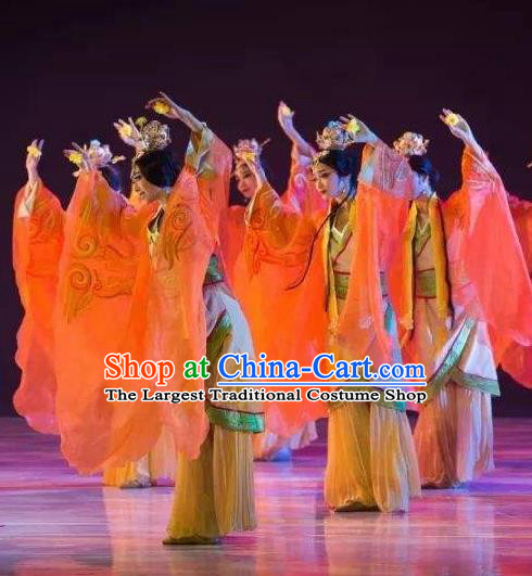 Traditional Chinese Classical Dance Confucius Costume Court Drama Stage Show Beautiful Dance Dress for Women