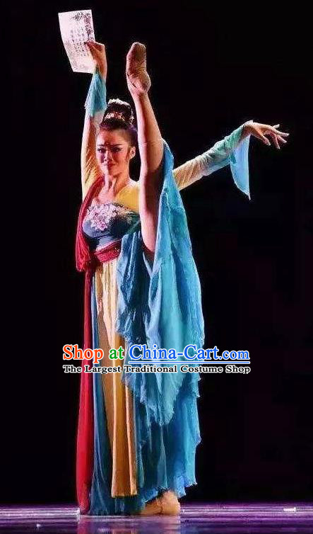Traditional Chinese Classical Dance Ballet Ru Yi Niang Costume Stage Show Beautiful Dance Dress for Women