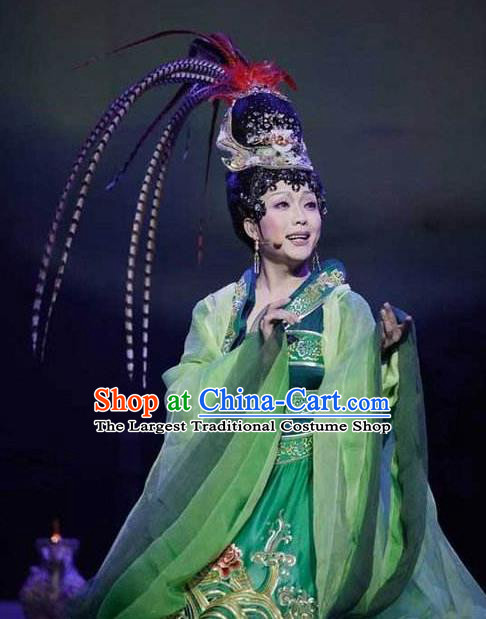 Chinese Beautiful Dance Beijing Opera Wang Zhaojun Costume Traditional Classical Dance Competition Dress for Women