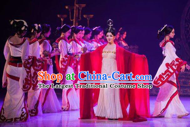 Beautiful Chinese Dance Xun Xiang Costume Traditional Court Dance Classical Dance Dress for Women