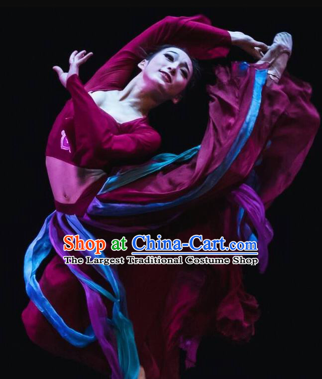 Beautiful Chinese Dance Yun Xiang Ni Shang Dance Costume Traditional Classical Dance Dress for Women