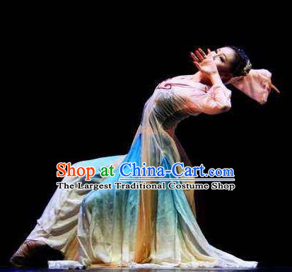 Beautiful Chinese Dance Midnight Song Dance Costume Traditional Classical Dance Zi Ye Dress for Women