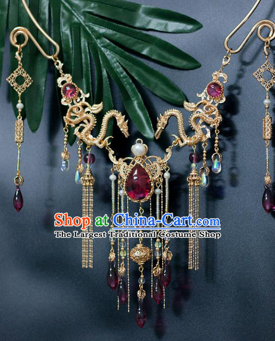 Chinese Ancient Princess Jewelry Accessories Hanfu Tassel Necklace for Women