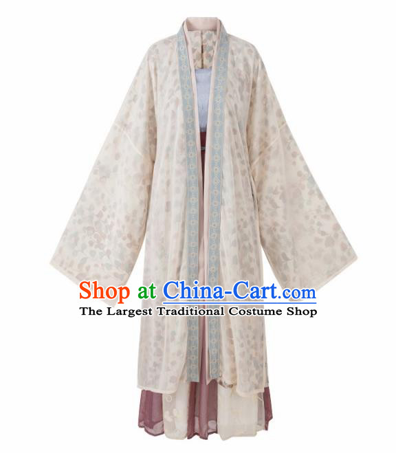 Traditional Chinese Song Dynasty Court Princess Historical Costume Ancient Palace Lady Hanfu Dress for Women