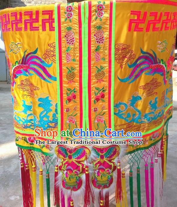 Chinese Traditional Temple Umbrella Flag Dragon Boat Competition Embroidered Dragon Flag