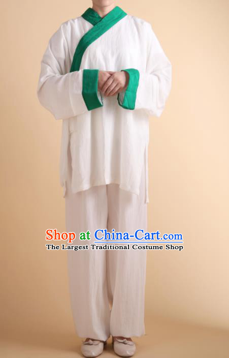 Chinese Traditional Martial Arts Kung Fu Blue Slant Opening Costumes Tai Chi Competition Clothing for Women