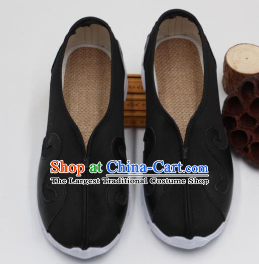 Chinese Traditional Martial Arts Kung Fu Black Shoes Tai Chi Taoist Priest Shoes for Men