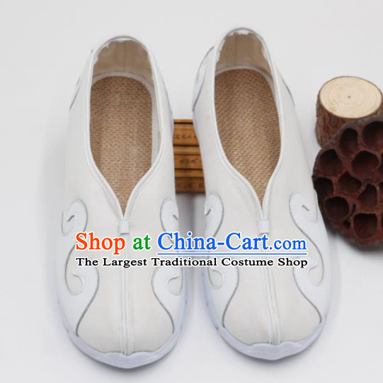 Chinese Traditional Martial Arts Kung Fu White Shoes Tai Chi Taoist Priest Shoes for Men