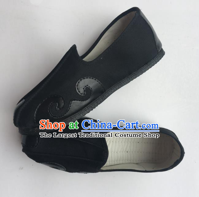 Chinese Handmade Traditional Martial Arts Black Shoes Tai Chi Kung Fu Shoes for Men