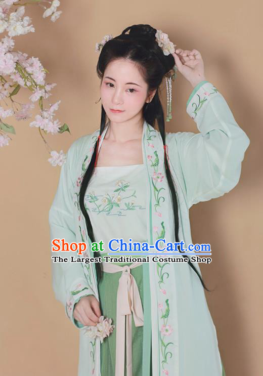 Chinese Traditional Song Dynasty Nobility Lady Replica Costumes Ancient Aristocratic Miss Hanfu Dress for Women