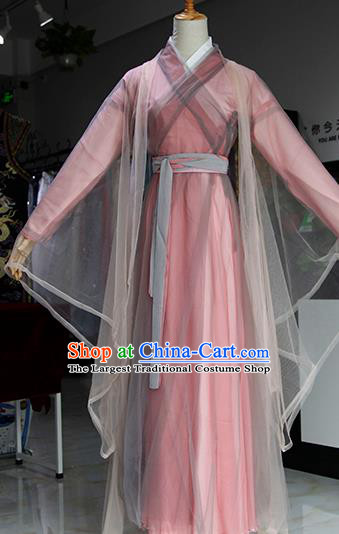 Chinese Ancient Drama Swordswoman Costumes Traditional Song Dynasty Madam White Snake Peri Dress for Women