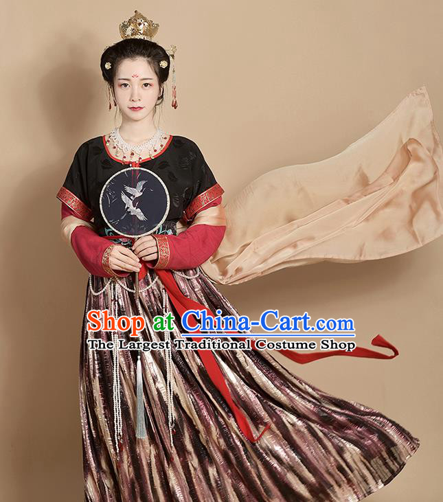 Chinese Traditional Tang Dynasty Court Maid Replica Costumes Ancient Apsaras Flying Hanfu Dress for Women