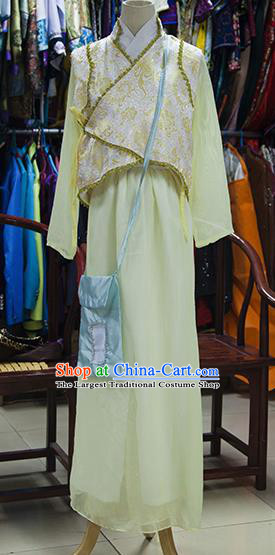 Chinese Ancient Drama Young Lady Costumes Traditional Ming Dynasty Swordswoman Dress for Women