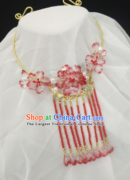 Chinese Ancient Hanfu Tassel Necklace Traditional Necklet Jewelry Accessories for Women