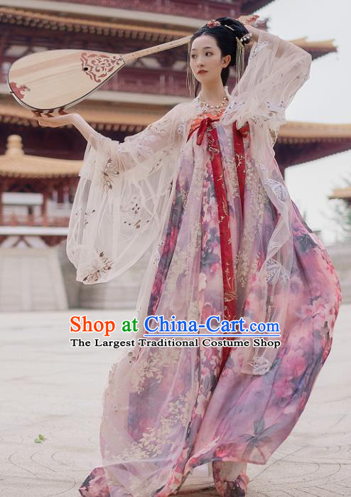Traditional Chinese Tang Dynasty Court Dance Hanfu Dress Ancient Imperial Consort Replica Costumes for Women