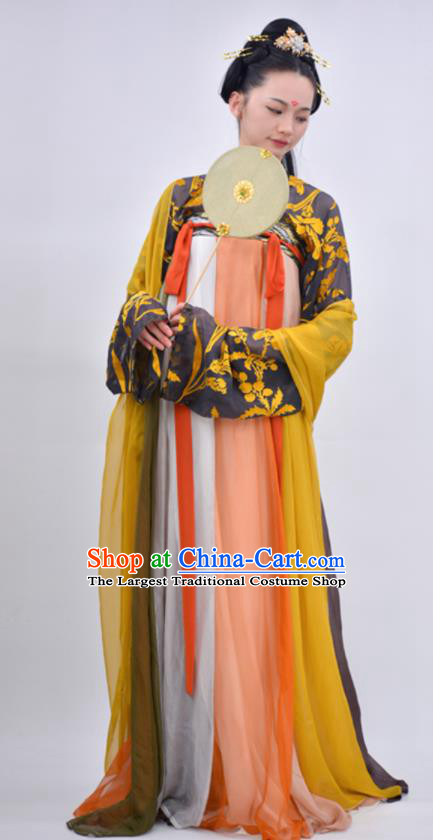 Chinese Traditional Tang Dynasty Princess Replica Costumes Ancient Imperial Consort Hanfu Dress for Women