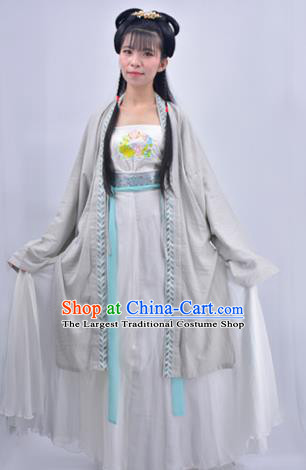 Chinese Traditional Song Dynasty Country Lady Replica Costumes Ancient Village Girl Hanfu Dress for Women