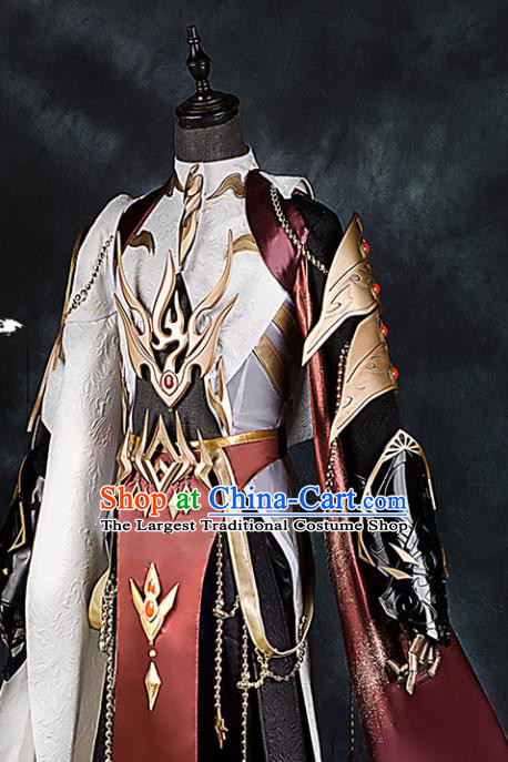 Chinese Ancient Drama Cosplay General Armor Knight Clothing Traditional Hanfu Swordsman Costume for Men