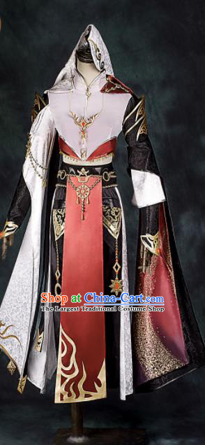 Chinese Ancient Drama Cosplay General Clothing Traditional Hanfu Swordsman Costume for Men