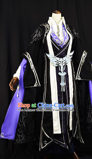 Chinese Ancient Cosplay Young Knight Nobility Childe Clothing Traditional Hanfu Swordsman Costume for Men