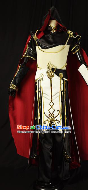 Chinese Ancient Cosplay Young Kawaler Knight Clothing Traditional Hanfu Swordsman Costume for Men