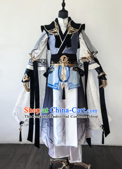 Chinese Ancient Drama Cosplay Taoist General Clothing Traditional Hanfu Swordsman Costume for Men