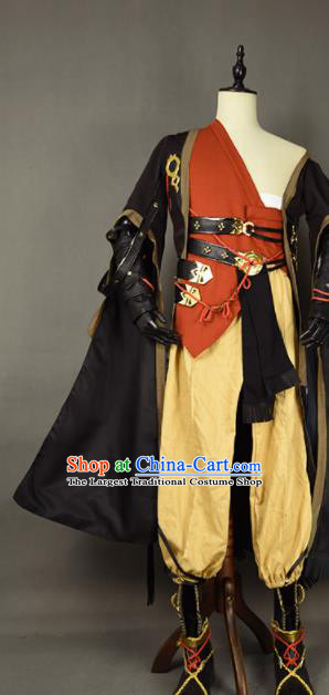 Chinese Ancient Cosplay Knight Beggar Clothing Traditional Hanfu Swordsman Costume for Men