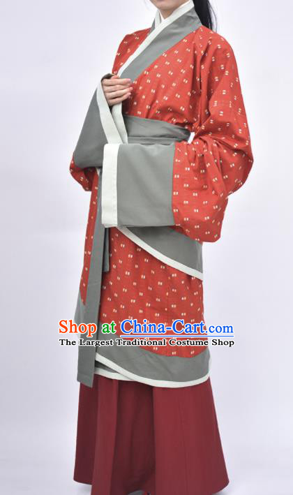 Chinese Traditional Han Dynasty Court Maid Replica Costumes Ancient Imperial Consort Hanfu Dress for Women