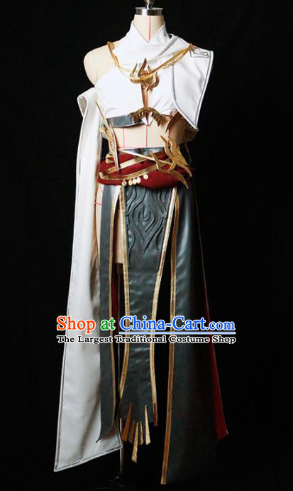 Chinese Ancient Cosplay Fairy Female Knight Dress Traditional Hanfu Princess Swordsman Costume for Women