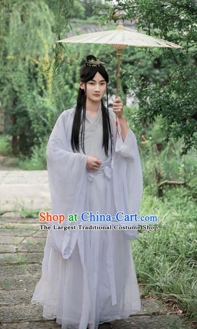 Chinese Ancient Cosplay Peri White Dress Traditional Hanfu Song Dynasty Princess Costume for Women