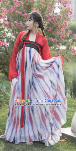 Chinese Ancient Cosplay Game Fairy Dress Traditional Hanfu Princess Swordsman Costume for Women