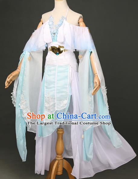 Chinese Ancient Cosplay Fairy Swordsman Dress Traditional Hanfu Princess Costume for Women