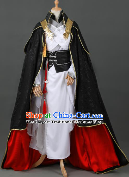 Chinese Ancient Drama Cosplay Young Knight Royal Prince Clothing Traditional Hanfu Swordsman Costume for Men