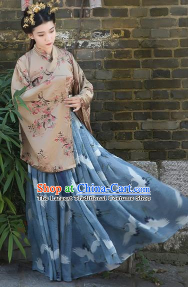 Chinese Traditional Jin Dynasty Imperial Consort Replica Costumes Ancient Palace Princess Hanfu Dress for Women