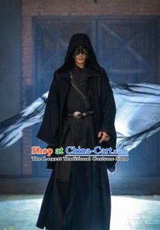 Chinese Ancient Cosplay Swordsman Black Clothing Custom Traditional Nobility Childe Prince Costume for Men