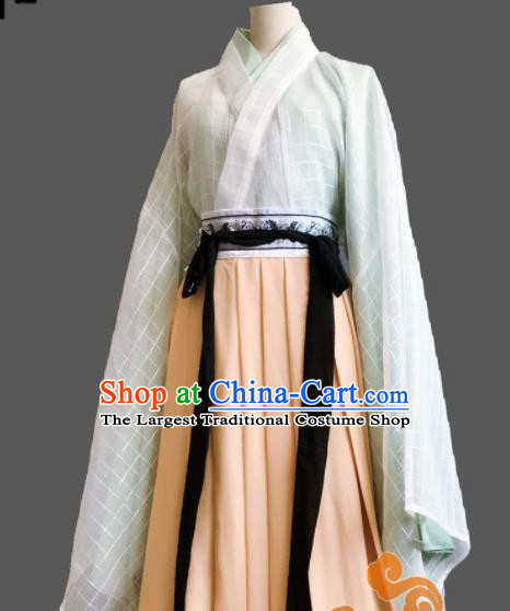 Chinese Traditional Cosplay Fairy Princess Dress Custom Ancient Jin Dynasty Female Swordsman Costume for Women