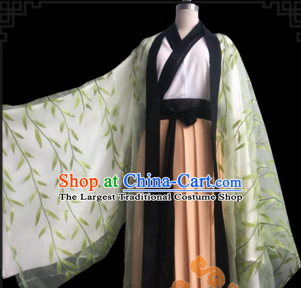 Chinese Traditional Cosplay Swordswoman Fairy Princess Dress Custom Ancient Jin Dynasty Imperial Consort Costume for Women