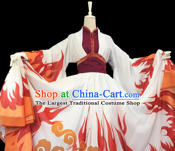 Chinese Traditional Cosplay Heroine Female Knight Dress Custom Ancient Fairy Swordswoman Costume for Women