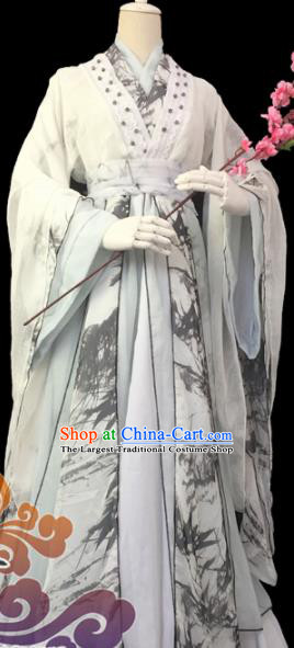 Custom Chinese Ancient Cosplay Prince Taoist Priest Clothing Traditional Swordsman Costume for Men