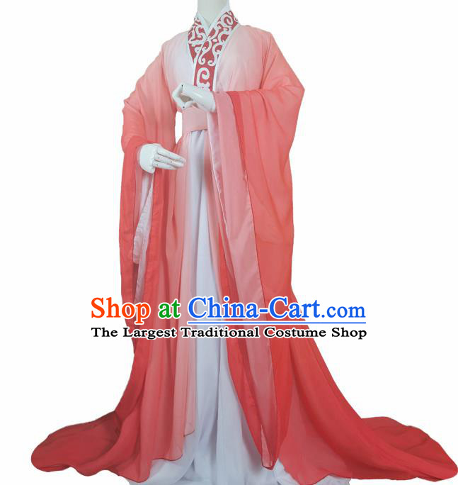 Chinese Ancient Cosplay Swordsman Orange Clothing Custom Traditional Royal Prince Costume for Men