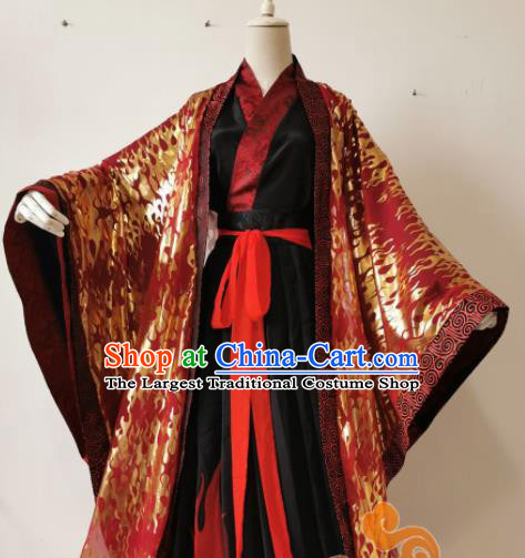 Chinese Ancient Cosplay Swordsman Wedding Clothing Custom Traditional Royal Prince Costume for Men