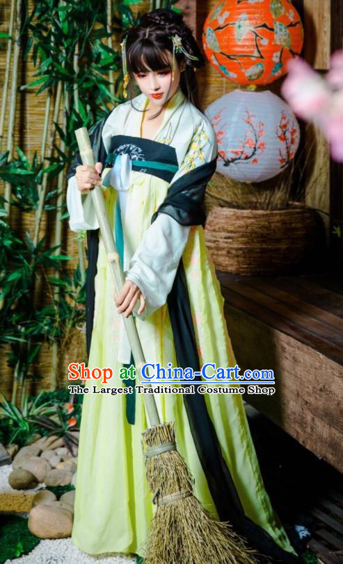 Chinese Traditional Cosplay Court Maid Dress Custom Ancient Tang Dynasty Swordswoman Princess Costume for Women