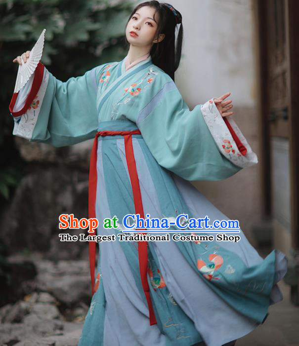 Ancinet Chinese Jin Dynasty Palace Princess Hanfu Dress Traditional Court Lady Replica Costumes for Women