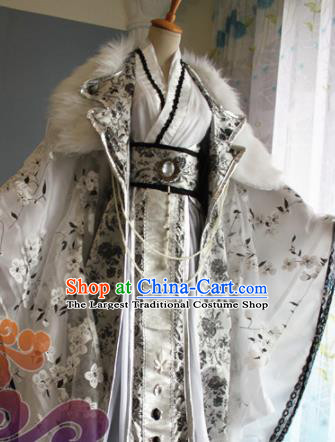 Custom Chinese Ancient Crown Prince Clothing Traditional Cosplay Emperor Swordsman Costume for Men
