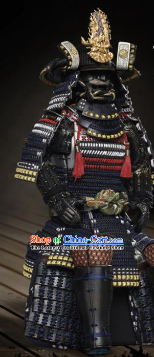 Japanese Ancient Warrior Imperator Armor and Helmet Traditional Asian Japan General Samurai Costumes Complete Set for Men