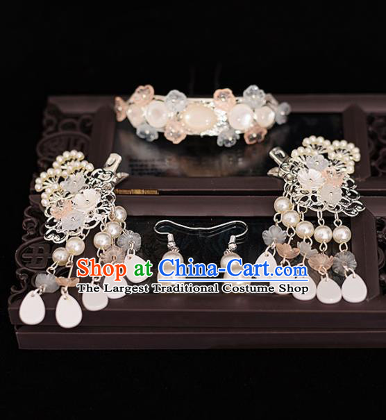 Chinese Ancient Bride Hair Claws Hairpins Traditional Hanfu Wedding Hair Accessories for Women
