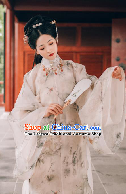 Traditional Chinese Ming Dynasty Nobility Lady Hanfu Dress Ancient Princess Replica Costumes for Women