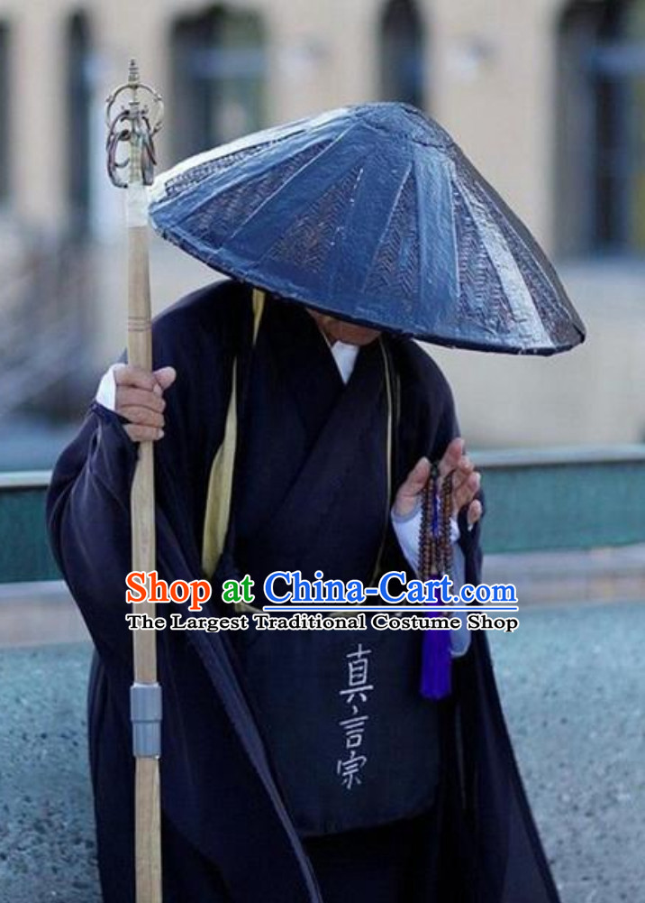Black Ancient Asian Japanese Monk Costumes