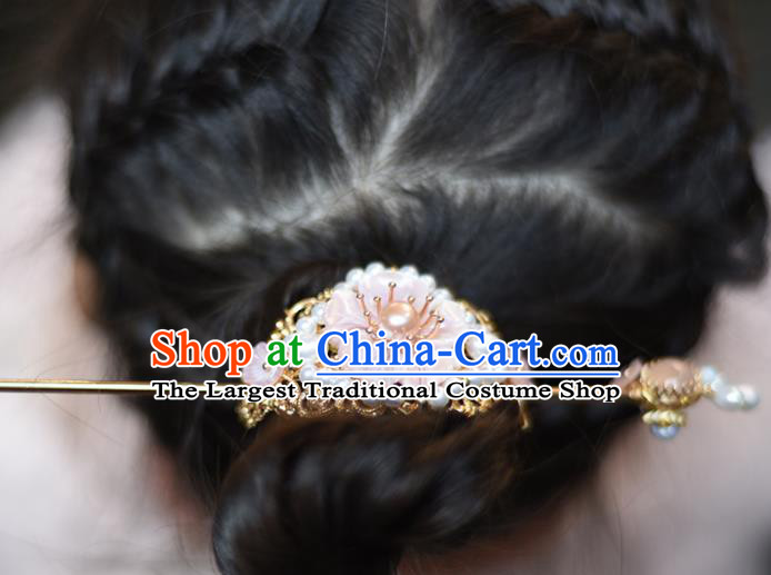 Chinese Ancient Princess Hairdo Crown Hairpins Traditional Handmade Hanfu Hair Accessories for Women
