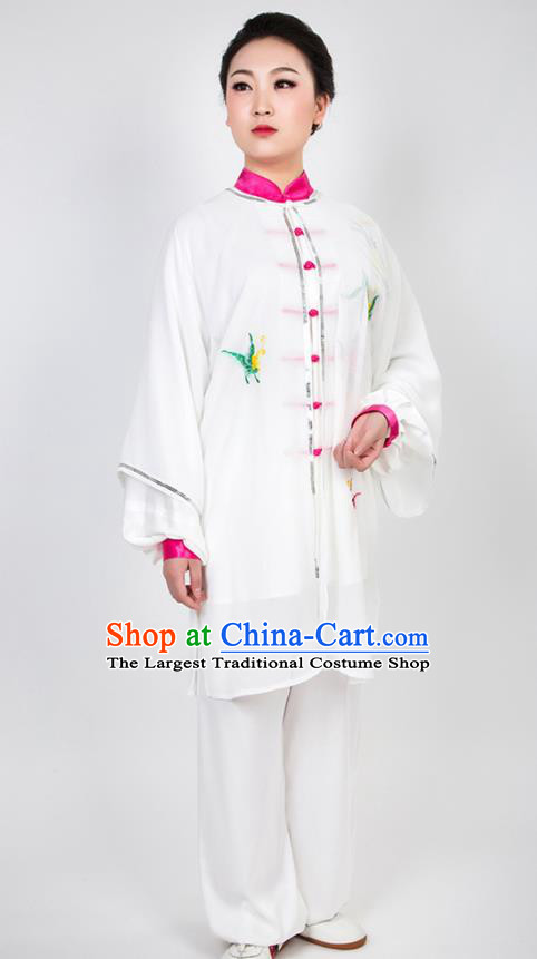Chinese Traditional Martial Arts Embroidered Costume Best Kung Fu Competition Tai Chi Training Clothing for Women